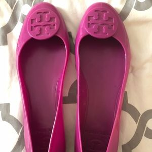 Tory Burch purplish pink jellies